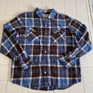 Urban Pipeline Blue Plaid Flannel Button Shirt